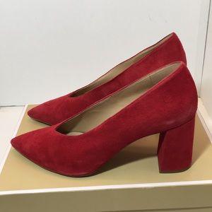 Michael Kors Red Suede Heels Pumps Size 9 M
